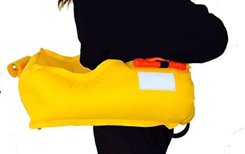 釣り 自動膨張式 手動/ ライフジャケット CE認証取得済 Eyson インフレータブルライフジャケット 9色 救命胴衣 ベルトタイプ