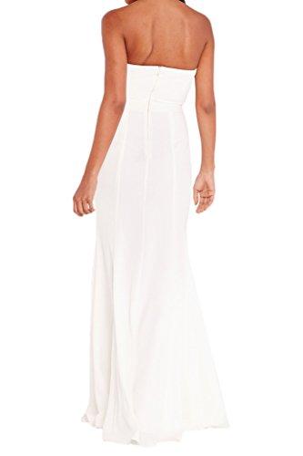 Light Strapless Dress Back Simple Dress Evening Chiffon H Avril Dress Party Yellow Line Zipper pE7FqwnTx