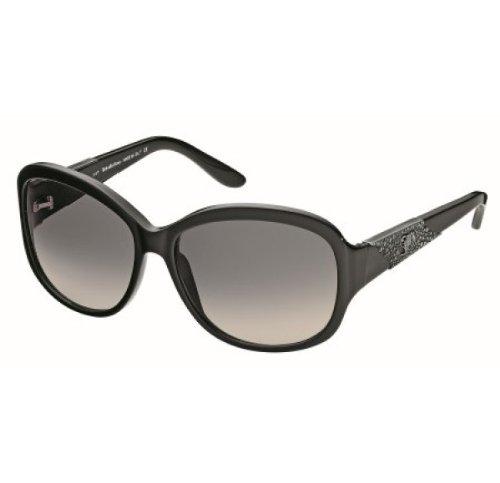 John Galliano Womens Black and Gunmetal Frame Grey Gradient Lens JG0058 01F