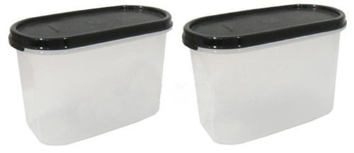 Modular Mates Set - TUPPERWARE Modular Mates Set: 2 x OVAL II (1.1L) BLACK