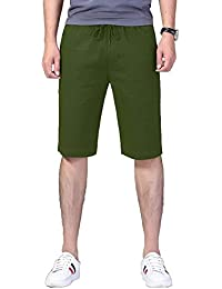 Men's Stretch Chino Shorts Mid Waist Casual Flat Front Skinny Shorts