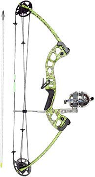 Carbon Express Muzzy Bowfishing Vice Bowfishing Kit with Compound Bow, Pre-Spooled Reel, Arrow Rest and Arrow - Right Hand (Best Compound Bow Strings On The Market)
