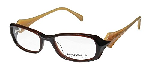 Koali 7006s Womens/Ladies Designer Full-rim Eyeglasses/Spectacles (49-16-135, Brown / - Spectacles Ladies