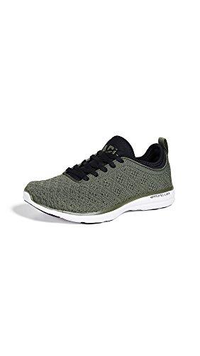 APL: Athletic Propulsion Labs Women's Techloom Phantom Sneakers, Fatigue/Black/White, 7 M US