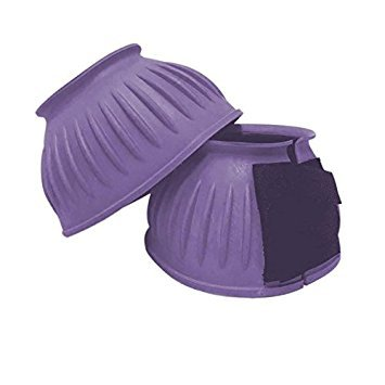 Shires Equestrian Velcro Over Reach Boots Pink