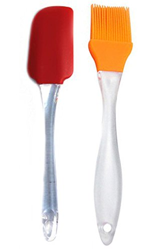 Everything Imported Silicone Spatula And Pastry Brush Set (Multicolour)