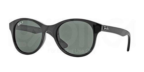 601 58 Black Polarized Crystal - Ray-Ban NYLON UNISEX SUNGLASS - BLACK Frame CRYSTAL GREEN POLARIZED Lenses 51mm Polarized