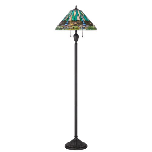 Quoizel TF1508FVB King Tiffany Dragonfly Floor Lamp, 2-Light, 200 Watts, Vintage Bronze (62