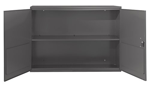 Durham 060-95-WFS Fixed Flat Shelf Aerosol Cabinet, Gray