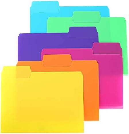 Mr. Pen- File Folders, 1/3 Cut Tab, 6 Pack, Assorted Colors, Letter Size, Colored File Folders, Letter File Folders, Color Folders, Office File Folders, Office Supplies File Folders, Colored Folders