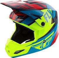 FLY RACING ELITE GUILD HELMET RED/BLUE/HI-VIS LG
