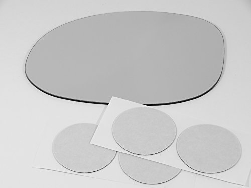 - 99-04 Chry 300, 98-04 Concorde, Intrepid, 99-01 LHS, 00-05 Neon Left Driver Mirror Glass Lens Fits Models w/ Power, w/ Folding USA non Heated w/Adhesive