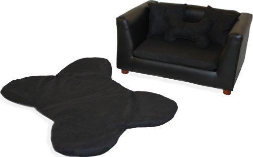 Keet Deluxe Orthopedic Memory Foam Dog Bed Set, Small, Black