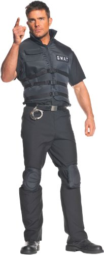 [Underwraps Men's Plus-Size Swat, Black, XX-Large] (Swat Vest Costume)