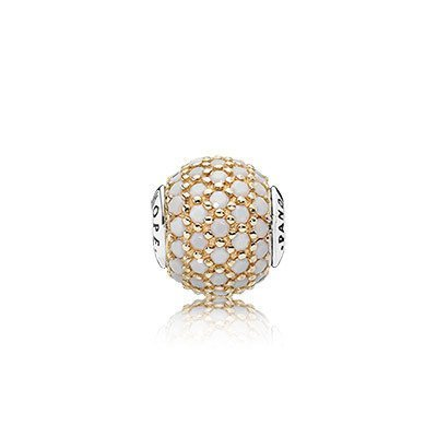 Pandora 796059NWC ESSENCE Collection, Charm HOPE, w/14K and Opaque White Crystal