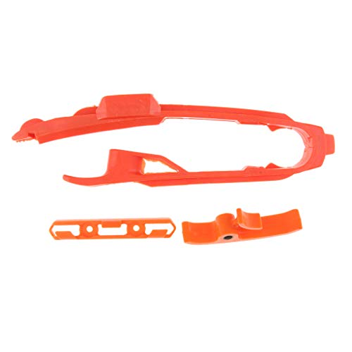 - Flameer Orange Chain Slider Sliding Swingarm Guide with Brake Hose Clamp for KTM SX SXF SMR XC XCF 125 150 200 250 350 450 525 2011-2017