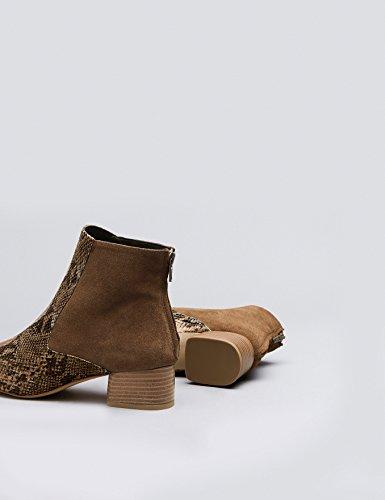 Finde Damer Ankel Støvler Lavet Af Ruskind-imiteret Læder Beige (tan / Slange) 2az6HWo