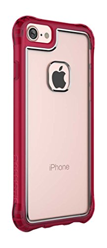 nce Case for Standard Size 4.7-Inch Apple iPhone 8/7/6S/6 - Clear/Burgundy - Not Compatible with iPhone Plus 5.5-Inch Screen Size Smartphones ()