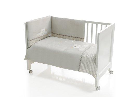 Interbaby - 91028 - Set di 3 pezzi - Trapunta + Paraurti da culla + Cuscino per letto - Beige - 60x120 cm Beige (Beige), 3 91028-02