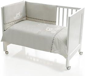 nestchen und Kissen f/ür gro/ßen Kinderbett 80 x 130 cm Steppdecke Interbaby 91027 Set 3 St/ücke