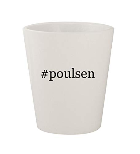 - #poulsen - Ceramic White Hashtag 1.5oz Shot Glass
