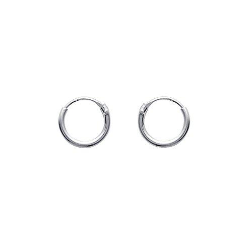 Tousmesbijoux Boucles d'oreilles créoles 8 mm Argent 925/00