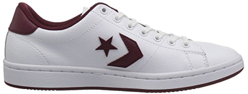 Converse Lifestyle All-Court Ox, Sneakers Basses Femme Multicolore (White/Dark Burgundy 102)