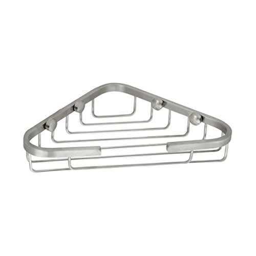 Satin Polished Soap Dish - MODONA Stainless Steel (SS304) Corner Soap Basket - Satin Nickel - 5 Year Warrantee