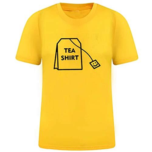 VEZAD Short Sleeve Printed T-Shirt Men Boy Summer Tees Shirt Cotton Tops
