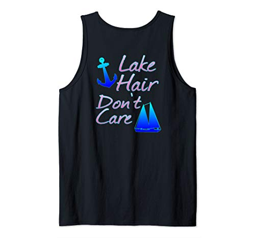 Lake Hair Do Not Care Funny Boating Tank Top