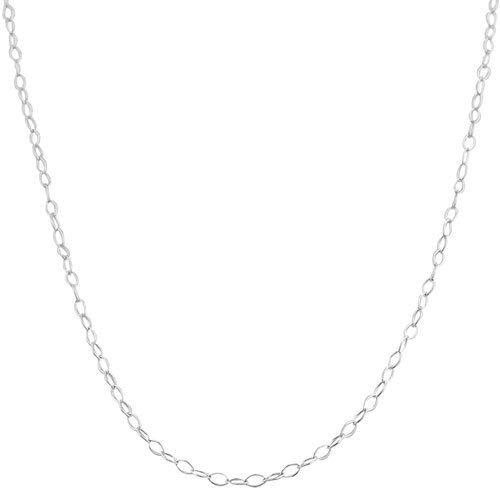 Open Link Chain Necklace (Sterling Silver 1.5mm Open Link Chain (20 inch))