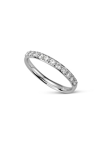 Moissanite Pave Stone Stacker Ring 0.44cttw DEW - Size 7 By Charles & Colvard by Charles & Colvard