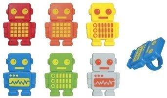 Robot Party Supplies (Robot Cupcake Rings - 24 ct)