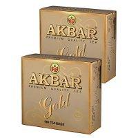 Akbar Premium Quality Tea, Gold Range, 100 Count String & Tag, Black Tea (2pack) by BUALMARKET