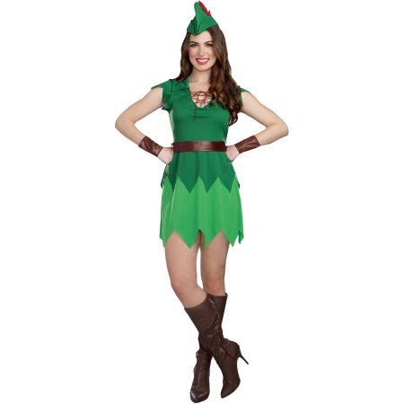 Walmart Halloween Costumes Adults (Pretty Pan Adult Women's Halloween Costume, Small (4-6))