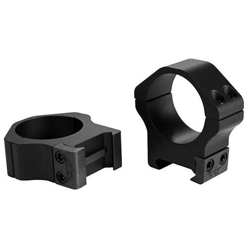 Warne Scope Mounts Maxima Horizontal Rings, Fits Picatinny & Weaver Style Bases, 30mm Low, Matte Fin