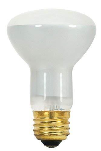 Satco 45R20 Incandescent Reflector, 45W E26 R20, Frosted Bulb