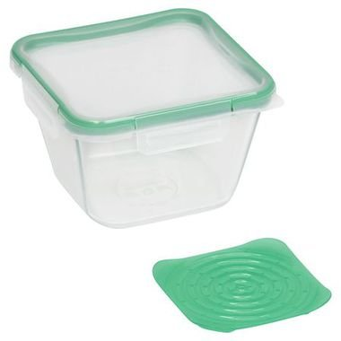 - Snapware 884408028503 1120320 6.5 Cup Square Pyrex Storage W/Green Produce Keeper, One Size,
