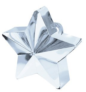 Star Balloon Weight - Silver 6 Oz. Case