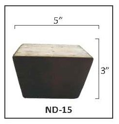 Wooden Tapered Furniture Feet (Set of ()