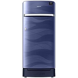 Samsung 198 L 4 Star Inverter Direct-Cool Single Door Refrigerator (RR21T2H2XUV/HL, Blue Wave, Base Stand with Drawer)