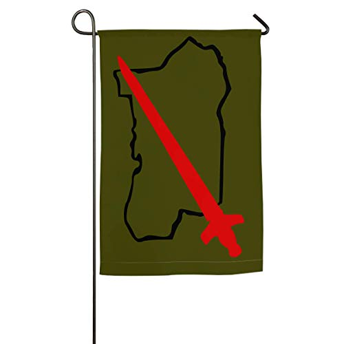 WINDST Personalized 90th Light Infantry Division Logo Garden Flag 12x18 Inch for Patio,Home,Yard,Outdoor Decorative