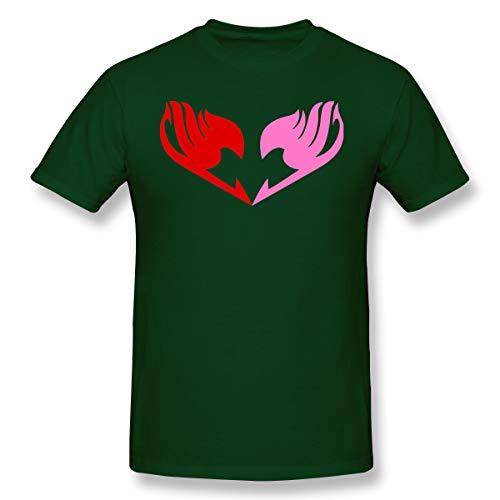 (VJJ AIDEAR Fairy Tail Logo 2 100% Organic Cotton Short Sleeve T Shirt for Mens Forest Green 30)