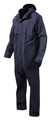 Rothco 2 Piece Microlite PVC Rainsuit, 4XL, Navy Blue