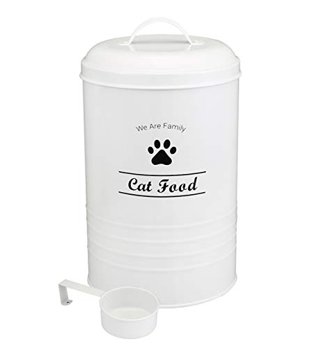 Geyecete Dog Food Container – Pets Good Dog Food Storage Canister, 4lbs Capacity – Scoop Included