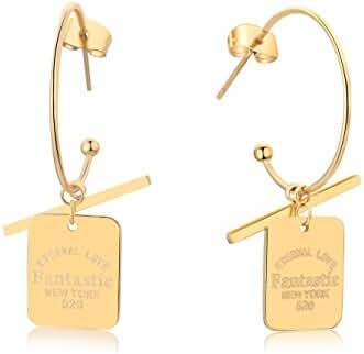 OSIANA Hoops Earrings - Womens Titanium Stainless Steel Planted Glod Earrings Hooks in Gift Box 01Fantestic