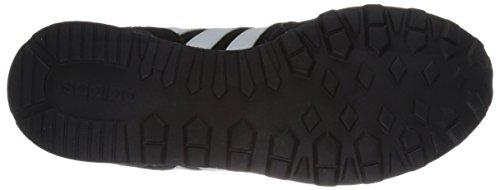 Adidas Mens 10k Lifestyle Coureur Sneaker Noir / Blanc / Mat Argent