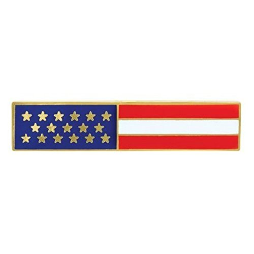 Police Officer Firefighter USA US American Flag Unifom Medal Pin Bar GOLD - American Flag Pin Bar