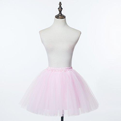 Ballet Women's Tutu Multi Mini Skirt Honeystore Pink Frilly Ruffle layer Petticoat atwd1