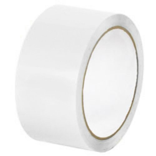 12 Rolls White Color Packing Tape Carton Sealing Shipping Tapes 2'' x 110 Yds 2 Mil by PackagingSuppliesByMail